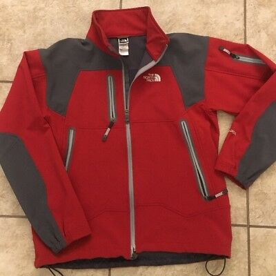 The North Face Apex Bionic Jacket Size Large Red Grey Wind And Waterproof