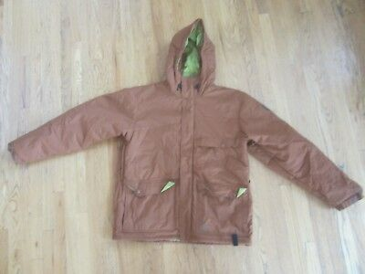 Men's SIMS Jacket Sz. XL brown Insulated hooded  (A002)