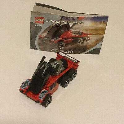 LEGO Racers F6 Truck Black Red Gray Speed Race Car Vehicle 8656