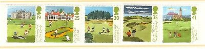 Collectible Great Britain 1994 Golfing Stamps: Golf Courses: St. Andrews, Troon