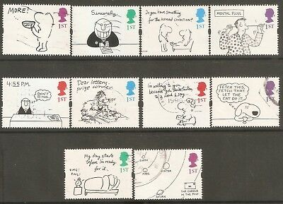 Collectible Great Britain 1996-2001 USED Greetings Stamps: Cartoons