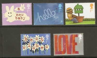 Collectible Great Britain 2002-3 Stamps:A New Baby,Hello,Moving,Best Wishes,Love