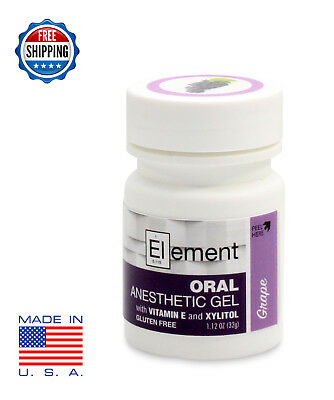 ELEMENT 20% Benzocaine Topical Anesthetic Gel GRAPE FLAVOR 1oz Jar - Gluten Free