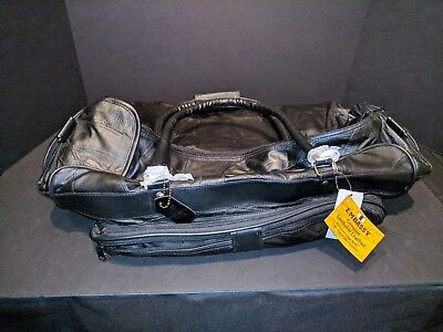 """New Embassy Solid Genuine Lambskin Leather 23"""" tote duffle travel LARGE bag"""