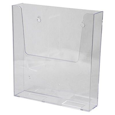 Clear-Ad - LHW-M161 - Acrylic Wall Mount Flyer Holder 8.5x11 - Perspex Litera...