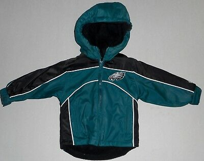 Philadelphia Eagles Hooded Jacket Coat Toddler 18 Mos 2T 3T 4T Green Nwt