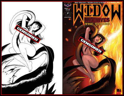 WIDOW Nude Cover Commissions- Original Art by Mike Wolfer!