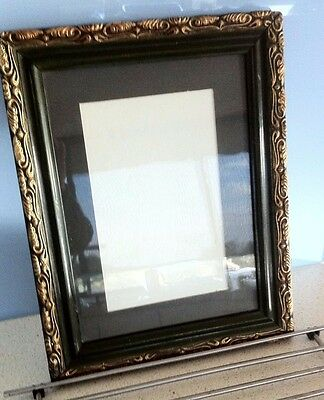 Stunning Olive Green Ornate Gold Picture Frame-Circa 1900