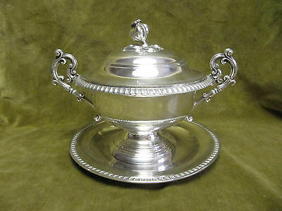 1840 french sterling silver (950) covered soup cup Louis Philippe st 518gr