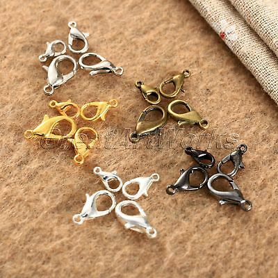 DIY Craft Plated Jewelry Lobster Clasp Claw Buckle Hook Finding Necklace 100Pcs