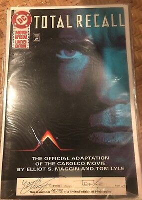 TOTAL RECALL Comic Book Movie Special Limited Ed SIGNED & NUMBERED COA Ltd 5000