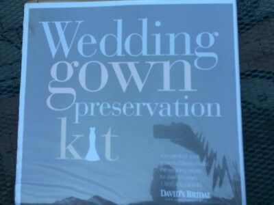WEDDING GOWN Preservation Kit New in Box Davids Bridal Dress Storage ...