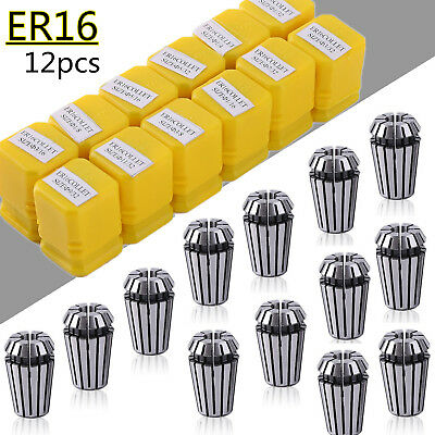 12Pcs ER16 Spring Collet Set For CNC Milling Lathe Tool Engraving Machine Hot BP