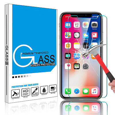[2-Pack] For Apple iPhone X / 8 / 8 Plus / 7 6s Tempered Glass Screen Protector