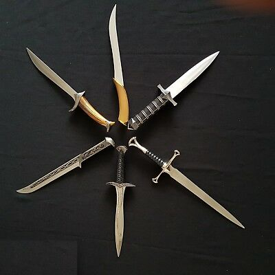 Lord of the Rings/Hobbit Fantasy Dagger Knife Collection Set