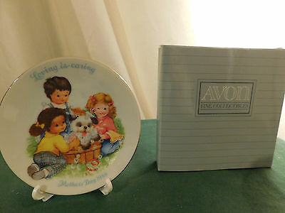 Avon Mothers Day Collector Plate 1989~Loving is Caring~NIB