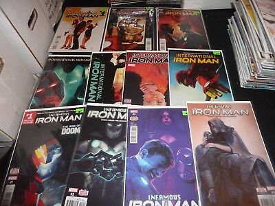 IRON MAN Lot of 11 INTERNATIONAL 1 2 3 4 5 6 7 INFAMOUS 1 3 4 5 VF/NM