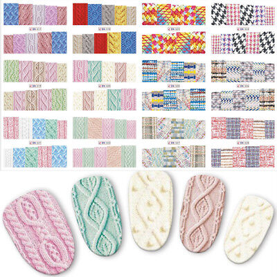 Beauty Sweater Cloth Slider For Nails 3 Concert Eyes Water Transfer Nail Art
