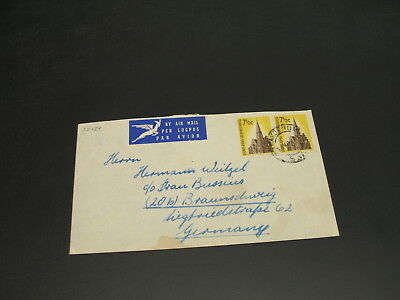 South West Africa SWA 1961 airmail cover to Germany stains *22484