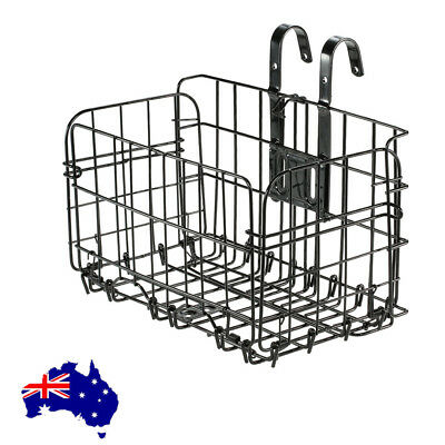 Quick Release Bicycle Basket for Front or Rear Extra Storage Bike Basket Black