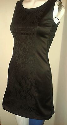 AX black satin and lace dress 10