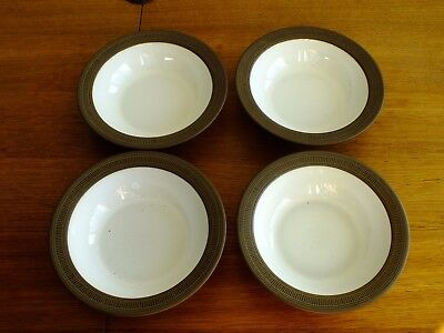 Hornsea Palatine Cereal / Soup Bowls X 4