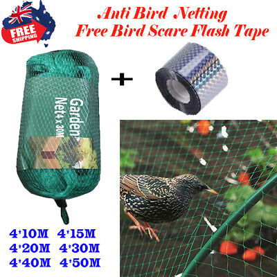 Commercial Fruit Tree Plant Knitted Anti Bird Netting Pest Net Mesh 4x10m-4x50m