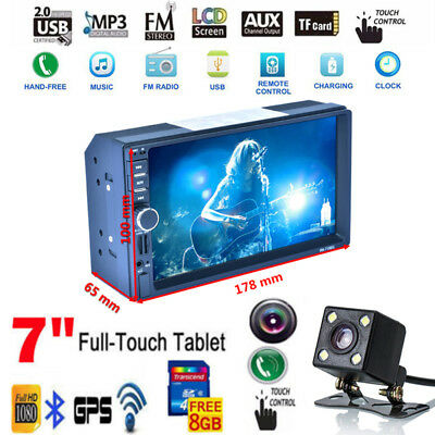 """7"""" Double 2DIN Android GPS Car Radio Bluetooth WIFI Touch MP5 Player+CAM WHC"""