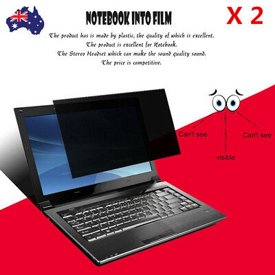 2X 12 inch 16:9 Privacy Screen Protector Film For Laptop Monitor/Notebook LCD