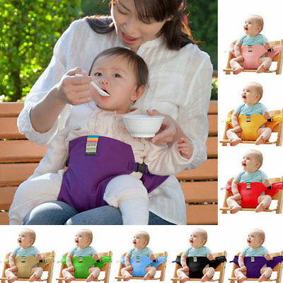 Baby Portable High Chair Feeding Seat Travel Seat Safety Belt Cover with Strap