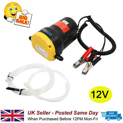 Quality Electric 60W 12V Transfer Pump Extractor Oil Fluid Diesel Car Motorbike