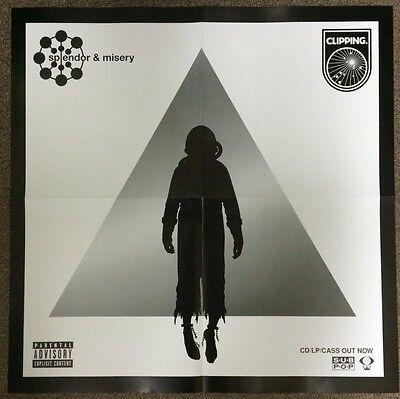 """CLIPPING Splendor & Misery Promo Poster 21"""" x 21"""" feat. DAVEED DIGGS of HAMILTON"""