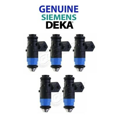NEW GENUINE Siemens Deka 630CC 60lb Injectors SHORT FI114962 107-962 Set of 5