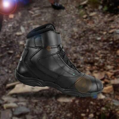 New Motorbike Waterproof Leather Boot Motorcycle Black Touring Boot Racing Shoes