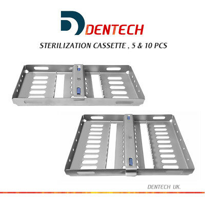 Dental Sterilization Cassettes Rack Tray Hold 5  Autoclave Surgical Instruments