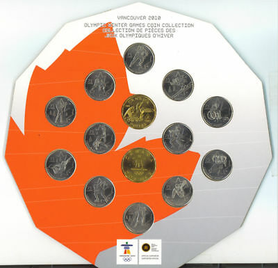 2010 Canada Vancouver Olympic Winter Games 14 Coin Collection Set