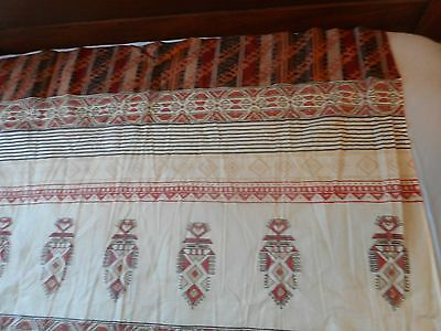 Vintage Primitive Indian Midwest Tablecloth French Country Cottage Shabby CHIC