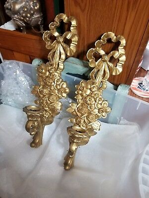 (Used) Set Of Two Bow Design Sconces  Home Interior
