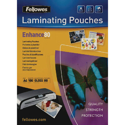 A4 Or A3 Fellowes '160 Or 250 Micron' Clear Gloss Laminating Pouch Sleeves