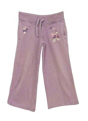 Girls Next Purple Lilac Floral Applique Wide Leg Comfy Joggers Age 4 Years