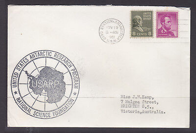 Usarp  Cover 1962 Us Signed   Byrd Station