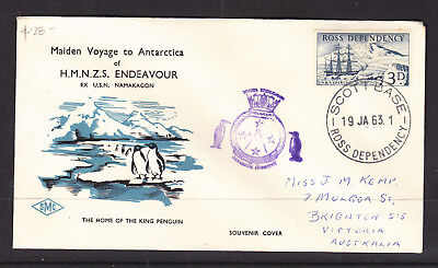 New Zealand Antarctic Cover Maiden Voyage To Ant Of H.m.n.z.s. Endeavoup