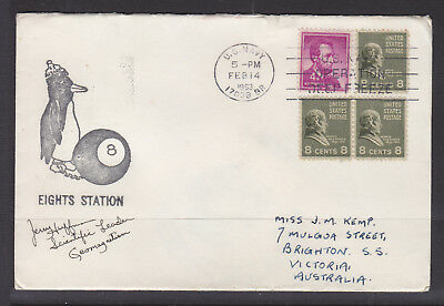 Usarp  Cover 1963  Signed By 5 Crew Members   Eights Station