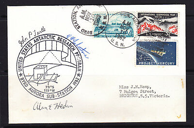 Usarp  Cover 1962 Us Signed X 3 Crew Members  Byrd Station