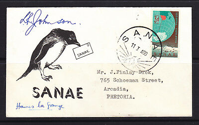 South Africa Antarctic Cover 1960  Signed