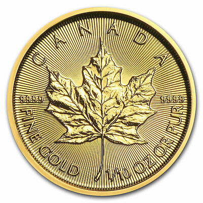 2018 Canada 1/10 oz Gold Maple Leaf BU - SKU#153129