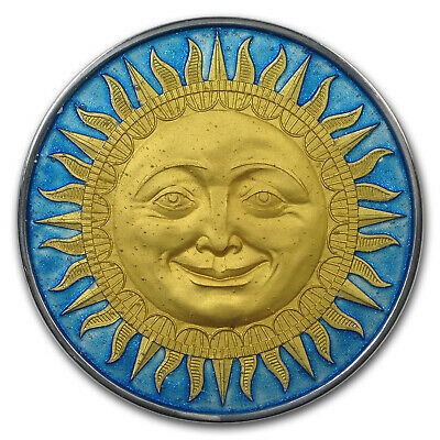 2017 Niue 2 oz Antique Finish Silver Celestial Bodies (The Sun) - SKU#132334