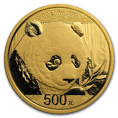 2018 China 30 gram Gold Panda BU (Sealed) - SKU#152620