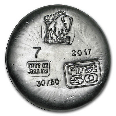 7 oz Hand-Poured Silver Round - 1st 50 Issued - SKU#153349