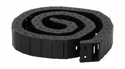 15mm x 30mm Black Plastic Semi Closed Drag Chain Cable Carrier 1M 15X30mm